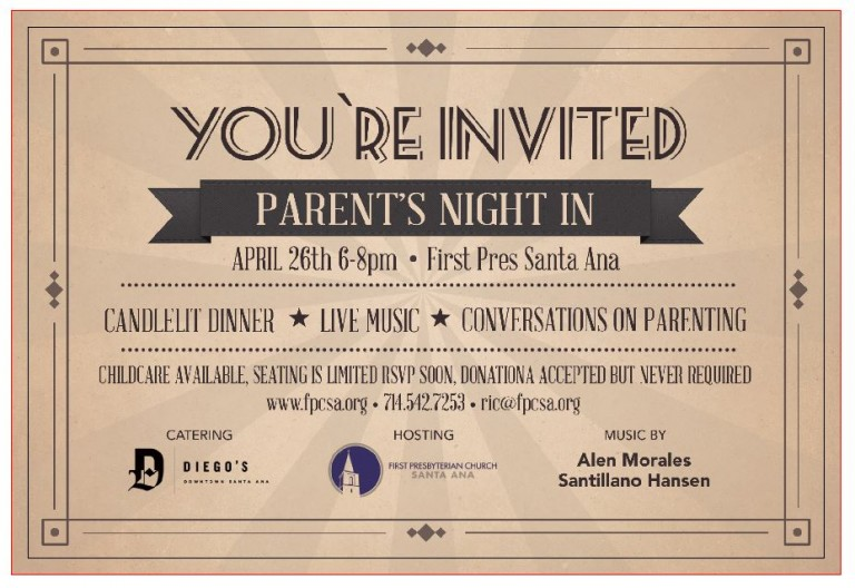 Parent's Night In RSVP